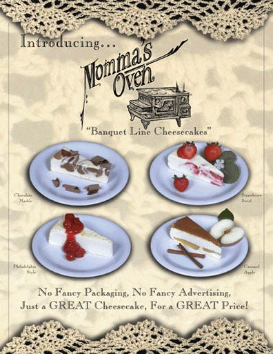 Momma's Oven Promo Sheet (Front)
